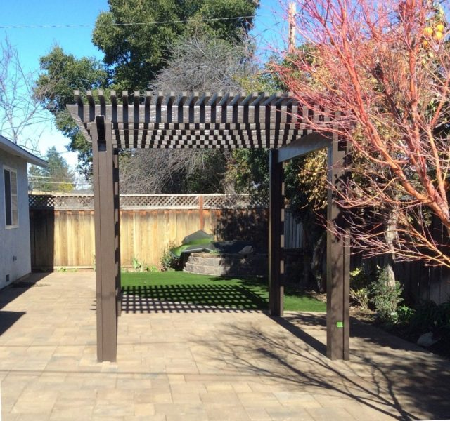 Project: San Jose Pergola, Synthetic Grass & Pavers