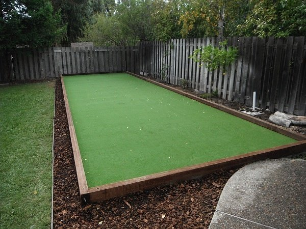 Project: Fremont, CA Bocce Court with Simple Wood Boarder