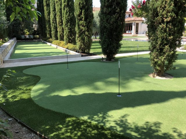 Project: 6-Hole Putting Green & Hybrid Bocce Ball Court – Saratoga