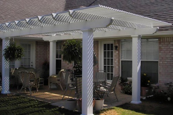 Project: Patio Cover Corbel Cut With Square Columns